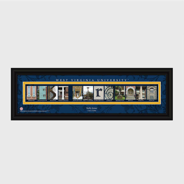 Personalized Big 12 Division Conference Architectural Campus Art - University College Art-WestVirginiaU-
