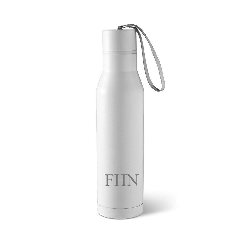 Personalized White Stainless Steel Thermos Style Waterbottle