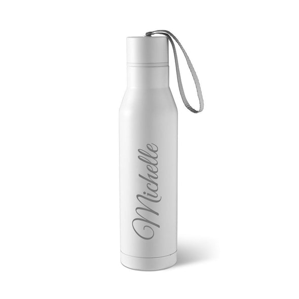 Personalized Stainless Steel Thermos Water Bottle-Travel Gifts-JDS-Script-