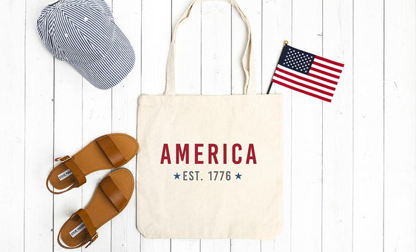 Personalized Patriotic Tote Bags