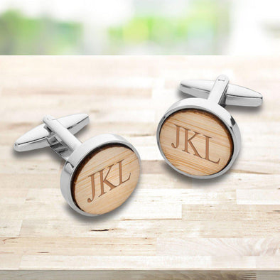 Personalized Bamboo Cufflinks