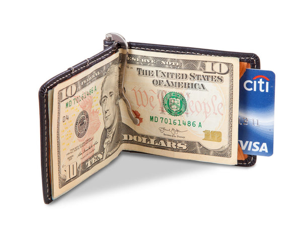 Personalized Metal Pin Money Clip and Wallet-
