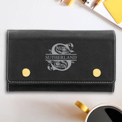 Personalized Poker Game Set - Black Leatherette