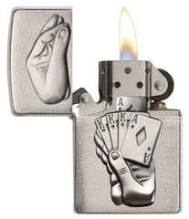 Personalized Full House Emblem Zippo Lighter-Groomsmen Gifts