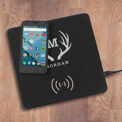 Personalized Black & Silver Charging Mat