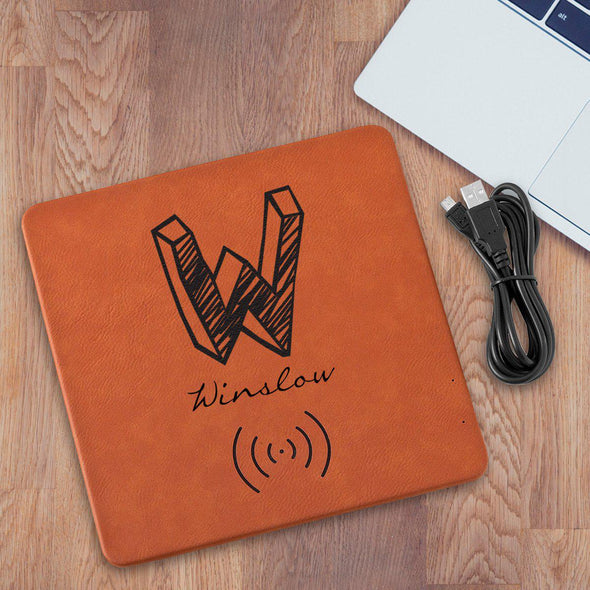 Personalized Rawhide Charging Mat