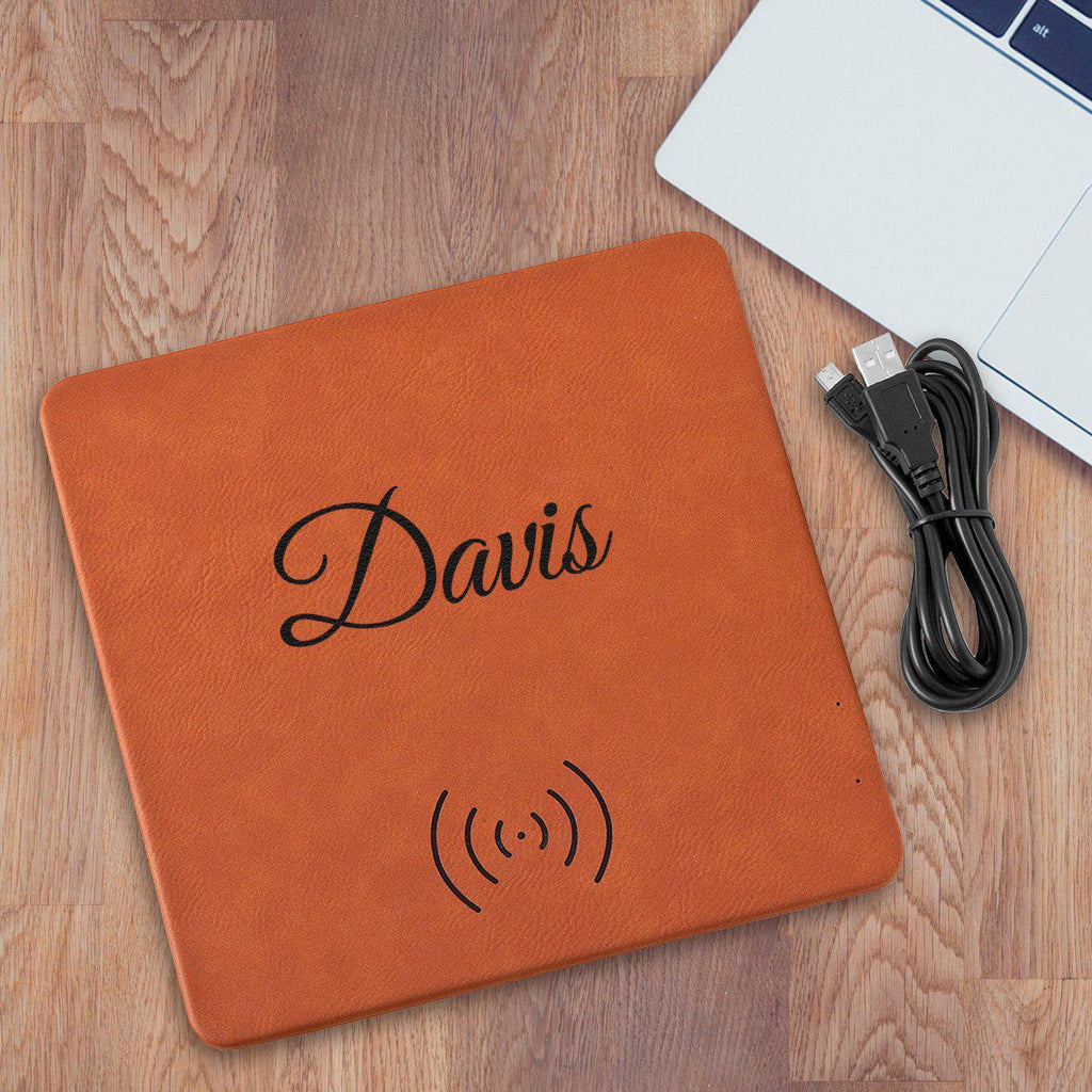 Personalized Rawhide Charging Mat - Gifts for Him - Groomsmen