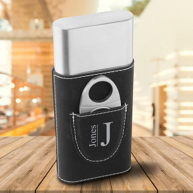 Personalized Cigar Holder - Black