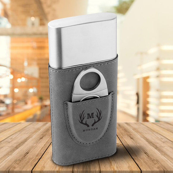 Personalized Cigar Holder - Gray