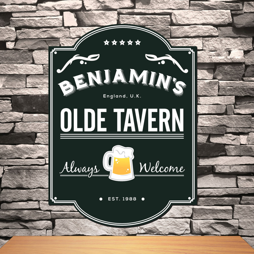 Classic Personalized Bar and Pub Sign Groomsmen Gift