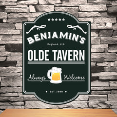 Olde Tavern Personalized Pub Sign