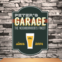 Personalized Garage Pub Sign