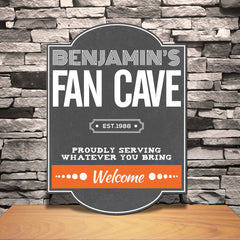 Personalized Football Fan Cave Pub Sign