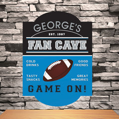 Personalized Man Cave Football Pub Sign