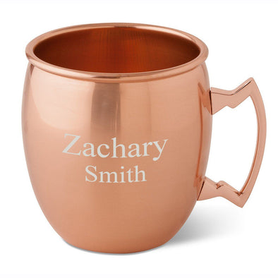 Personalized 20 oz. Classic Copper Moscow Mule Mug-2Lines-