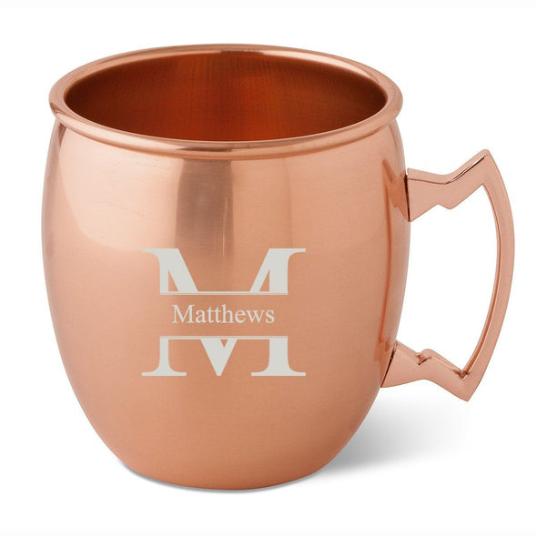 Personalized 20 oz. Classic Copper Moscow Mule Mug-Stamped-