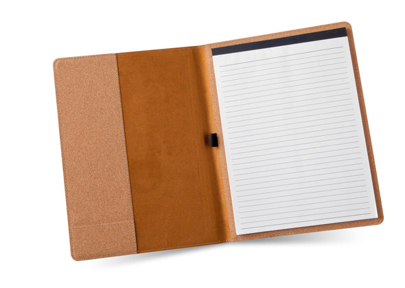 Monogram Portfolio with Notepad - Stamped - Cork-