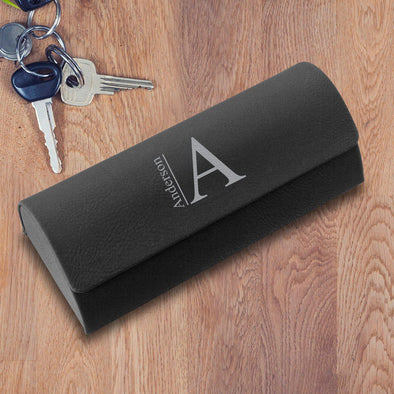 Personalized Black Glasses Case - Hard Shell