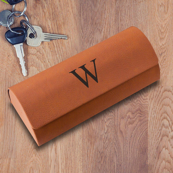 Personalized Rawhide Glasses Case - Hard Shell