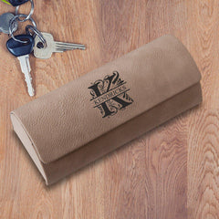 Personalized Glasses Case – Hard Shell - Groomsmen - Tan