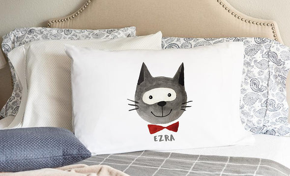 Personalized Whimsical Dog and Cat Pillowcases