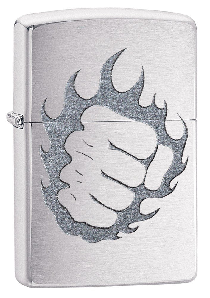 Personalized Tattoo Fire & Fist Zippo Lighter