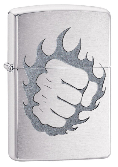 Personalized Tattoo Fire & Fist Zippo Lighter-