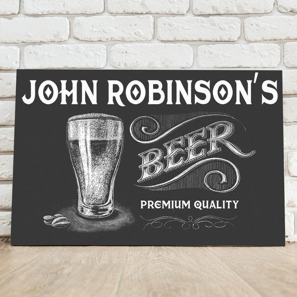 Personalized Premium Beer Canvas Sign-Default-