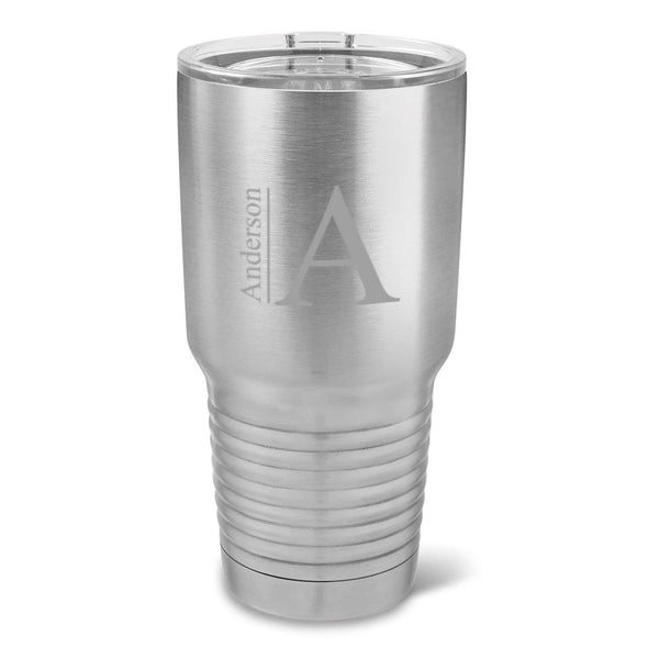 Personalized Húsavík 30 oz. Stainless Silver Double Wall Insulated Tumbler - Insulated Tumbler for Groomsmen - All-Modern-