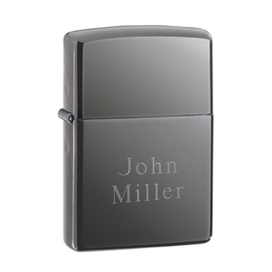 Personalized Lighters - Zippo - Black Ice - Groomsmen Gifts-2Lines-