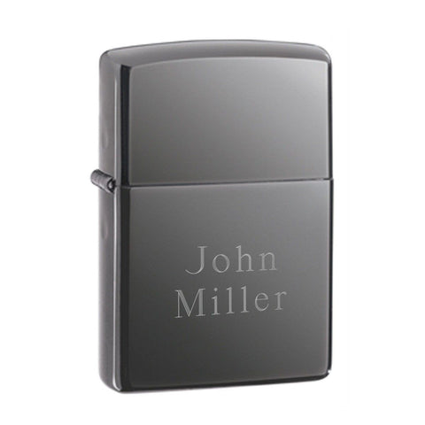 Engraved Zippo Black Ice Lighter