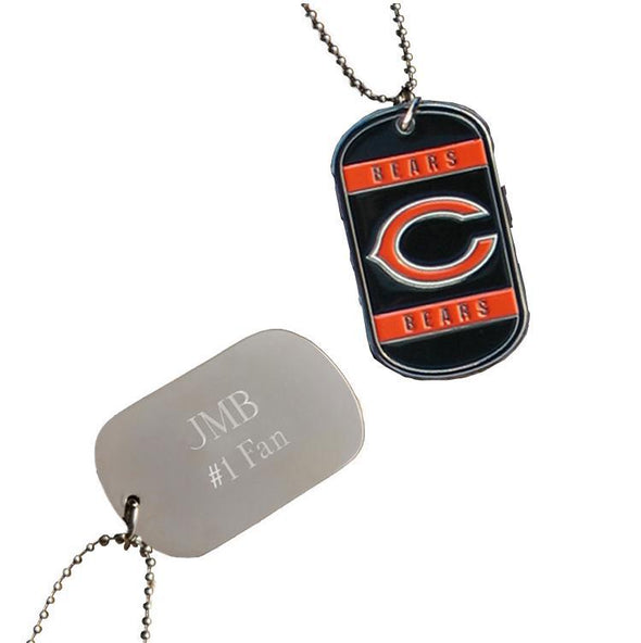 Personalized NFL Dog Tag-Chicago Bears-