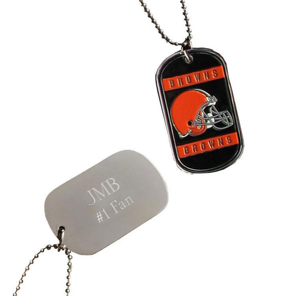 Personalized NFL Dog Tag-Cleveland Browns-