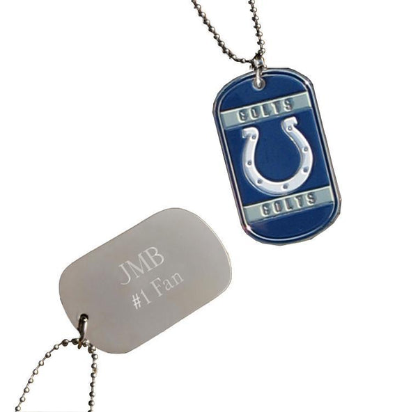Personalized NFL Dog Tag-Indianapolis Colts-