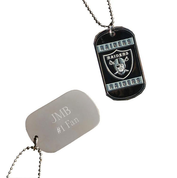 Personalized NFL Dog Tag-Oakland Raiders-
