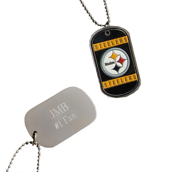 Personalized NFL Dog Tag-Pittsburgh Steelers-
