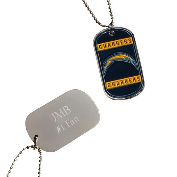 Personalized NFL Dog Tag-San Diego Chargers-