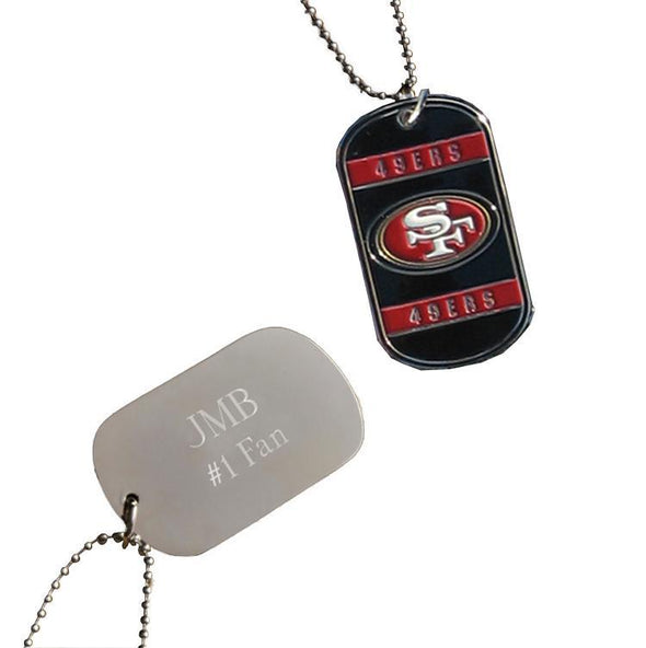 Personalized NFL Dog Tag-San Franciscio 49ers-