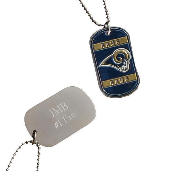 Personalized NFL Dog Tag-St. Louis Rams-