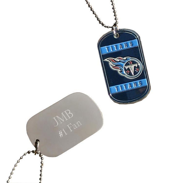 Personalized NFL Dog Tag-Tennessee Titans-