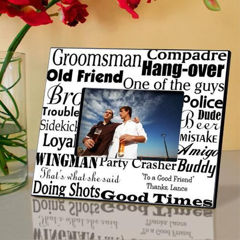 Personalized Groomsman Picture Frame-Groomsmen Gifts