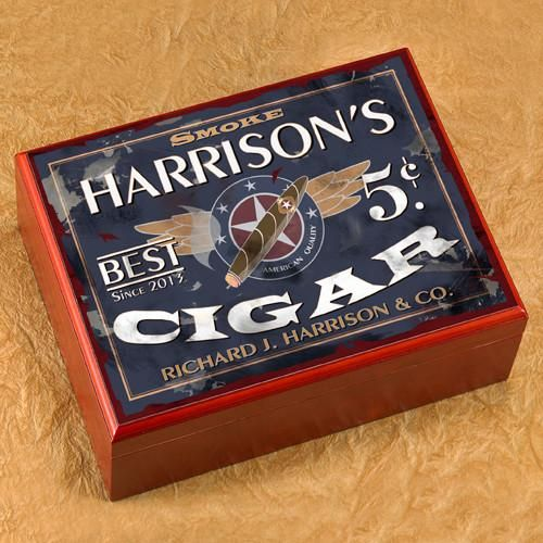 Personalized Groomsmen Cigar Humidor