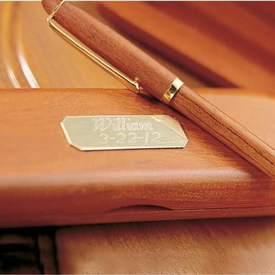 Personalized Genuine Rosewood Pen and Case-Default-