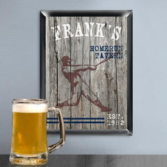 Personalized Man Cave Sports Bar Signs-Home Run-