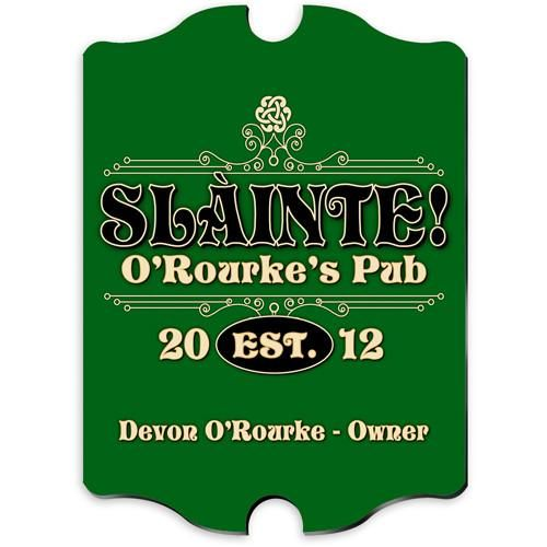 Personalized Vintage Bar Signs