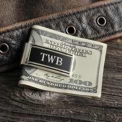 Personalized Money Clip - Silver Plated - Millionaire - Groomsmen Gifts-