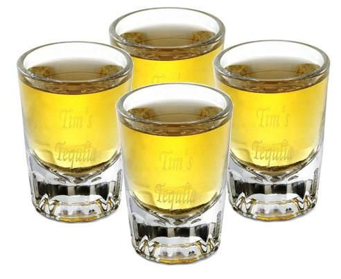 Engraved Set of 4 Distinct Shot Glasses
