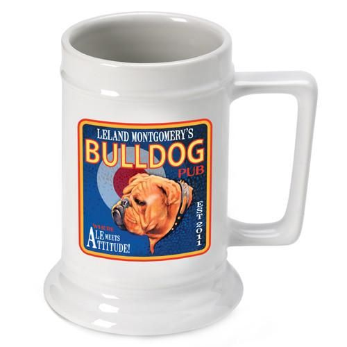 Personalized 16 oz. Ceramic Beer Mug-Barware-JDS-Ale-