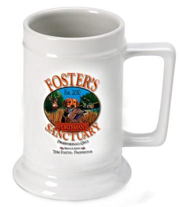 Personalized 16 oz. Ceramic Beer Mug-Barware-JDS-Sportsman-