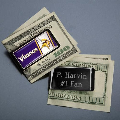Personalized Money Clip - NFL - Stainless Steel - Groomsmen-Default-Silver-